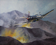 Korean War Paintings - Black Sheep CAS by Stephen Roberson