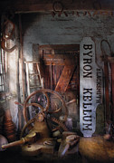 Window Signs Metal Prints - Black Smith - Byron Kellum Blacksmith Metal Print by Mike Savad