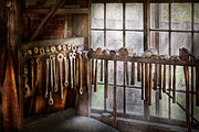 Artisan Photos - Black Smith - Draw plates and hammers  by Mike Savad