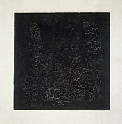 Minimalism Paintings - Black Square by Kazimir Malevich