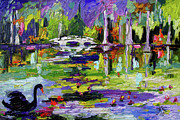 Ginette Callaway - Black Swan on Pond
