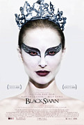 Movies Digital Art Framed Prints - Black Swan Poster Framed Print by Sanely Great