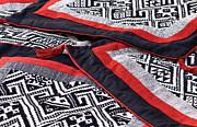 Black Thai Fabric 04 Print by Rick Piper Photography