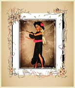 Black Tie Posters - Black Tie Affair - Fashion Doll - Girls - Collection Poster by Barbara Griffin