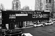 Black Top Prints - black top and checker cabs office Vancouver BC Canada Print by Joe Fox