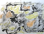 Impressionism Acrylic Prints Mixed Media - Black Tumble by Esther Newman-Cohen