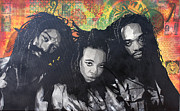 Pop Icons Painting Originals - Black Uhuru by Josh Cardinali