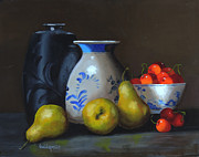 Barry Williamson - Black vase and pears