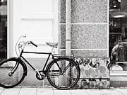 Old Bicycle Prints - Black Vintage Bicycle Print by Jimmy Karlsson