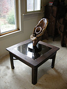 Black Sculpture Originals - Black Walnut mirrored table by Ivan Rijhoff