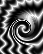 Spiral Art - Black Whirl of Energy by Hakon Soreide