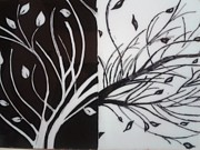 Shaikh Najeeb - Black White Tree