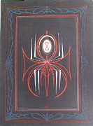 Flying Eyeball Framed Prints - Black Widow Framed Print by Alan Johnson