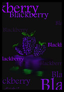 Blackberry Digital Art Acrylic Prints - Blackberry - Fruit and Veggie Series - #3 Acrylic Print by Steven Lebron Langston