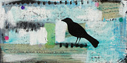 Blackbird Mixed Media Metal Prints - Blackbird Metal Print by Tracy Yarbrough