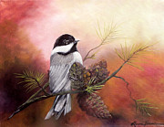 Laura Brown - Blackcap Chickadee