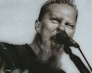 Metallica Paintings - Blackened by Christian Chapman Art
