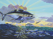Striped Marlin Prints - Blackfin Bust Off00116 Print by Carey Chen