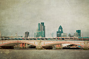 Landscape Bridge Posters - Blackfriars Bridge Poster by Violet Damyan