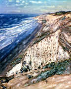 Surf Photos Art Originals - Blacks Beach Torrey Pines Cliffs by Glenn McNary