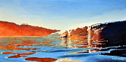Surfing Paintings - Blacks Gold by Nathan Ledyard