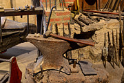 Smithy Photos - Blacksmith - Anvil and Hammer by Paul Ward