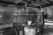 Lynn Palmer Prints - Blacksmith Shed and Tools Print by Lynn Palmer