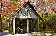Sight See Posters - Blacksmith Shop Poster by Susan Leggett