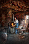 Chimney Framed Prints - Blacksmith - The importance of the Blacksmith Framed Print by Mike Savad