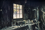 Blacksmiths Photos - Blacksmiths Workbench - One October Afternoon by Gary Heller