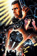 Vintage Movie Posters Art - Blade Runner Poster by Sanely Great