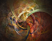 Swirl Digital Art Posters - Blagora Poster by David April