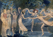 William Blake Paintings - BLAKE - FAIRIES c1786 by Granger