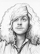 Graphite Drawings Metal Prints - Blake - Workaholics Metal Print by Olga Shvartsur