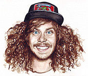 Canvas Mixed Media Metal Prints - Blake Anderson Workaholics Metal Print by Olga Shvartsur