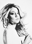 Blake Drawings Framed Prints - Blake Lively Framed Print by Michael Durocher