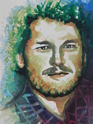 Shelton Framed Prints - Blake Shelton  Country Singer Framed Print by Chrisann Ellis