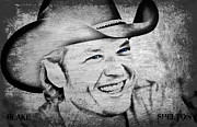 Boy Digital Art Originals - Blake Shelton by Jessica Grandall