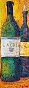 Vino Mixed Media Posters - Blanc de Blancs Poster by Phyllis Howard