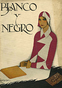 Clothes Clothing Art - Blanco Y Negro 1930 1930s Spain Art by The Advertising Archives