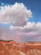 Canyon Paintings - Blanket Over Bryce by Eve  Wheeler