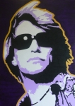 Music Legend Paintings - Blaze of Glory by ID Goodall