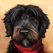 Dog Portrait Posters - Blaze Poster by Sean ODaniels