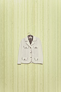 Green Jacket Framed Prints - Blazer Framed Print by Joana Kruse