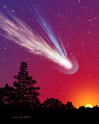 Comet Prints - Blazing By Print by Lynette Cook