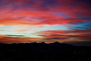 Landscape Framed Prints Prints - Blazing Sky Print by Kevin Bone