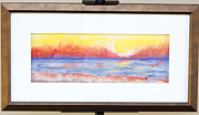Sun Pastels Originals - Blazing susset by Denise  Cox