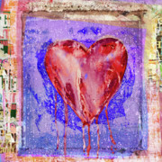 Bloodshed Prints - Bleeding heart Print by Luz Graphic Studio