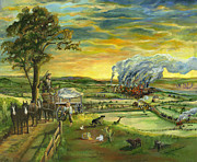 Mary Ellen Anderson Paintings - Bleeding Kansas - A Life and Nation Changing Event by Mary Ellen Anderson