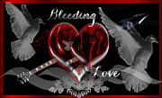 Enemies Digital Art Prints - Bleeding Love Print by King David